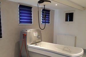 Installation d'une baignoire Magic 1000 et du système de transfert sur rail LUNA